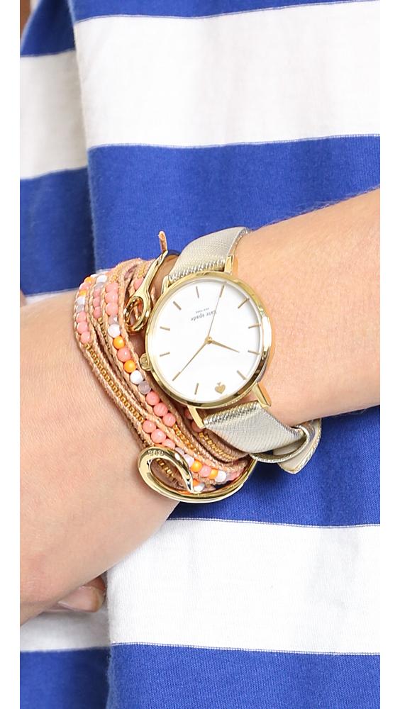 4ef0768b6b3 Kate Spade Metro Watch - Gold in Metallic - Lyst