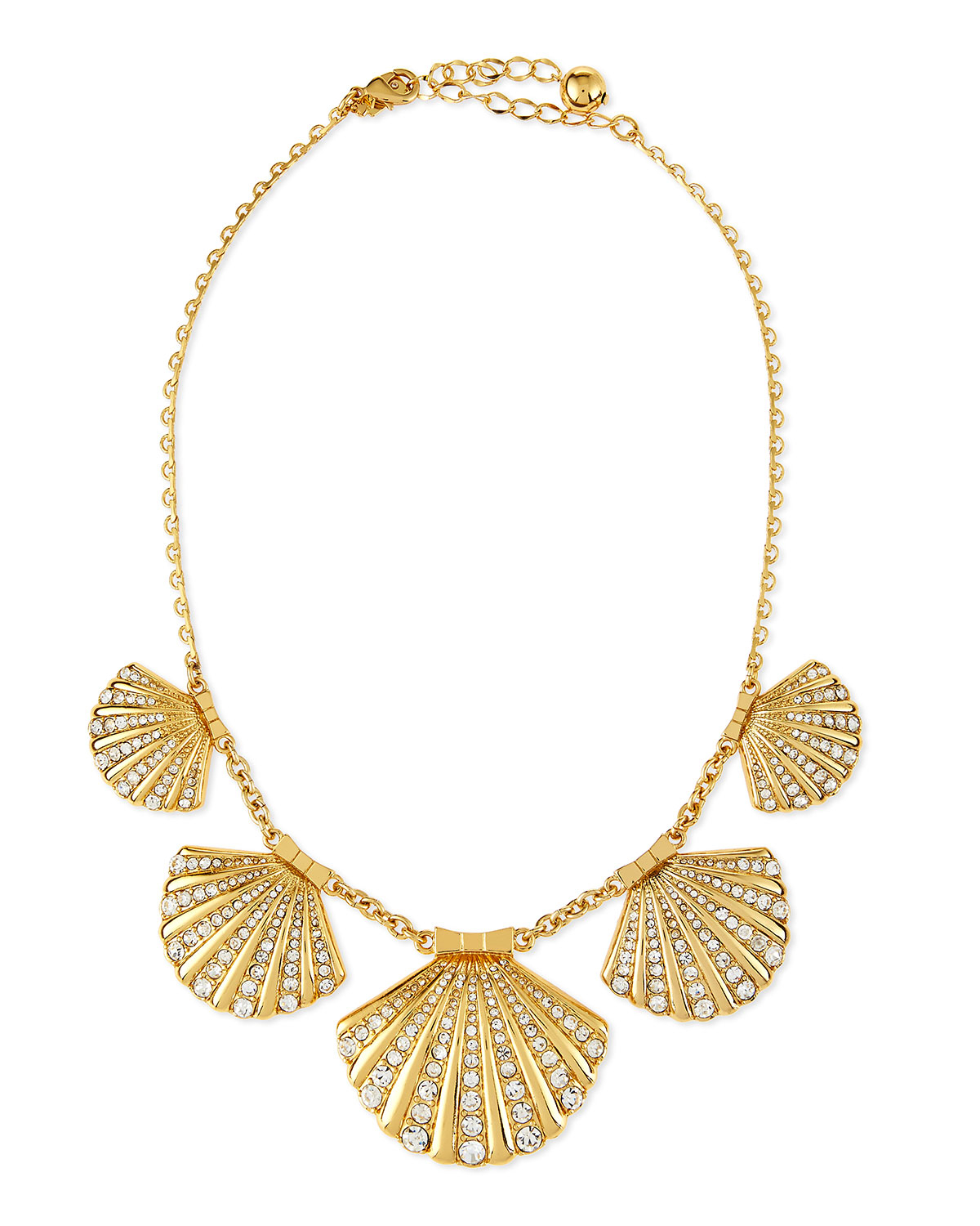Kate spade Clam Crystal Collar Necklace in Gold | Lyst