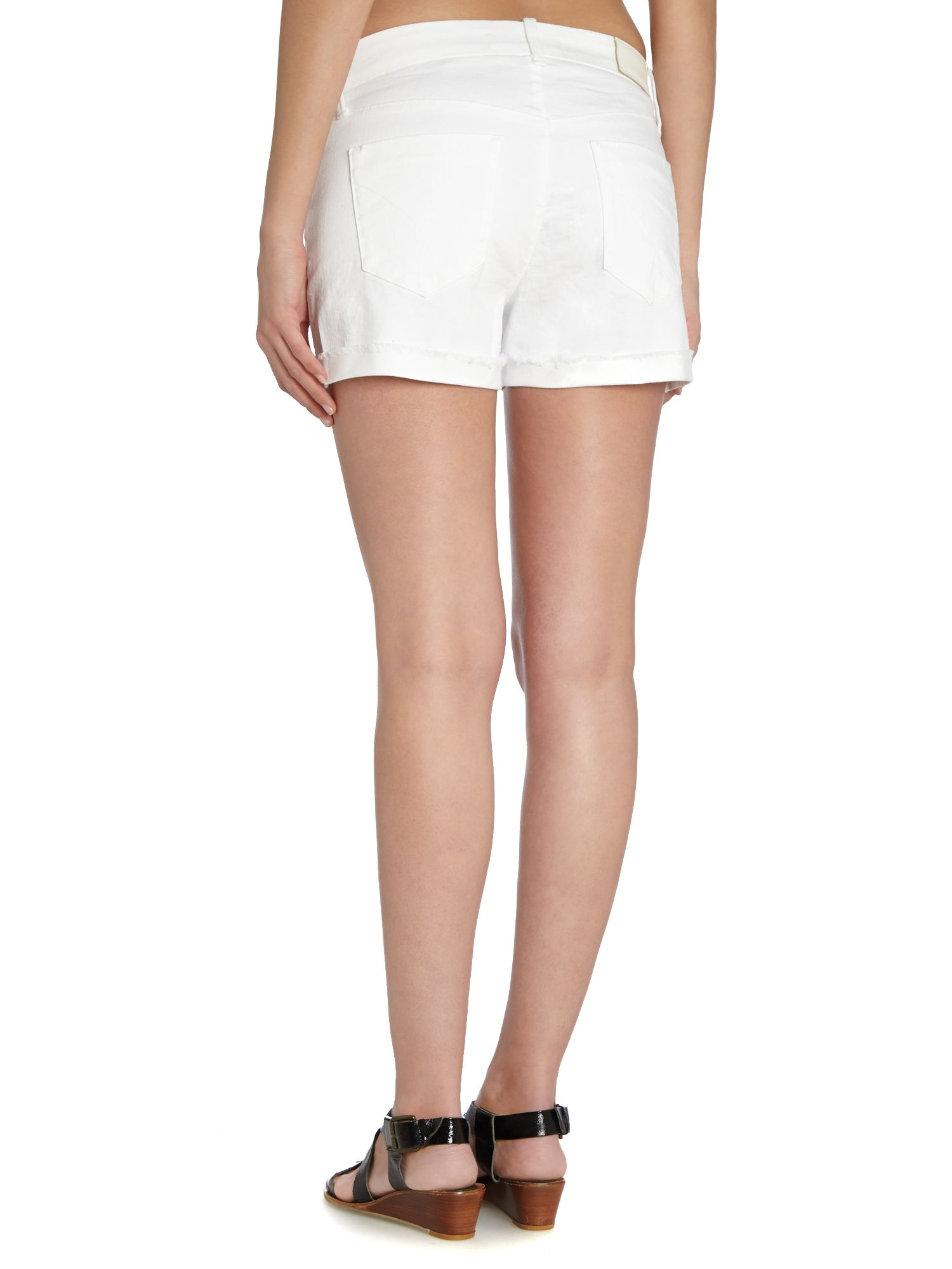 The Off-Road White Cutoff Denim Shorts are ready for all of your upcoming adventures! Stretchy white jean shorts have belt loops, a branded top button (with hidden zip fly), a five-pocket cut, and short /5(33).