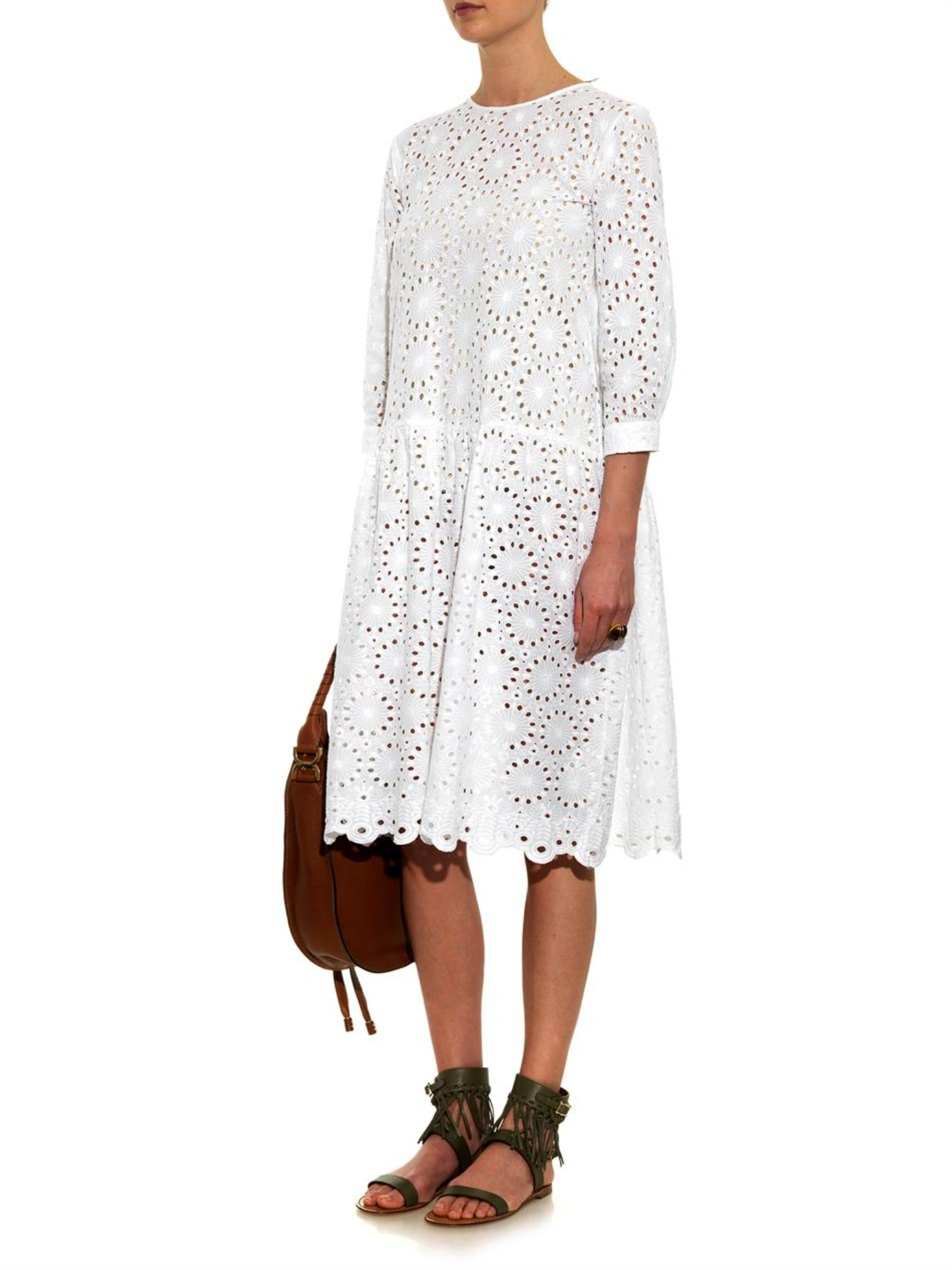 Queene And Belle Lucca Broderie Anglaise Cotton Dress In