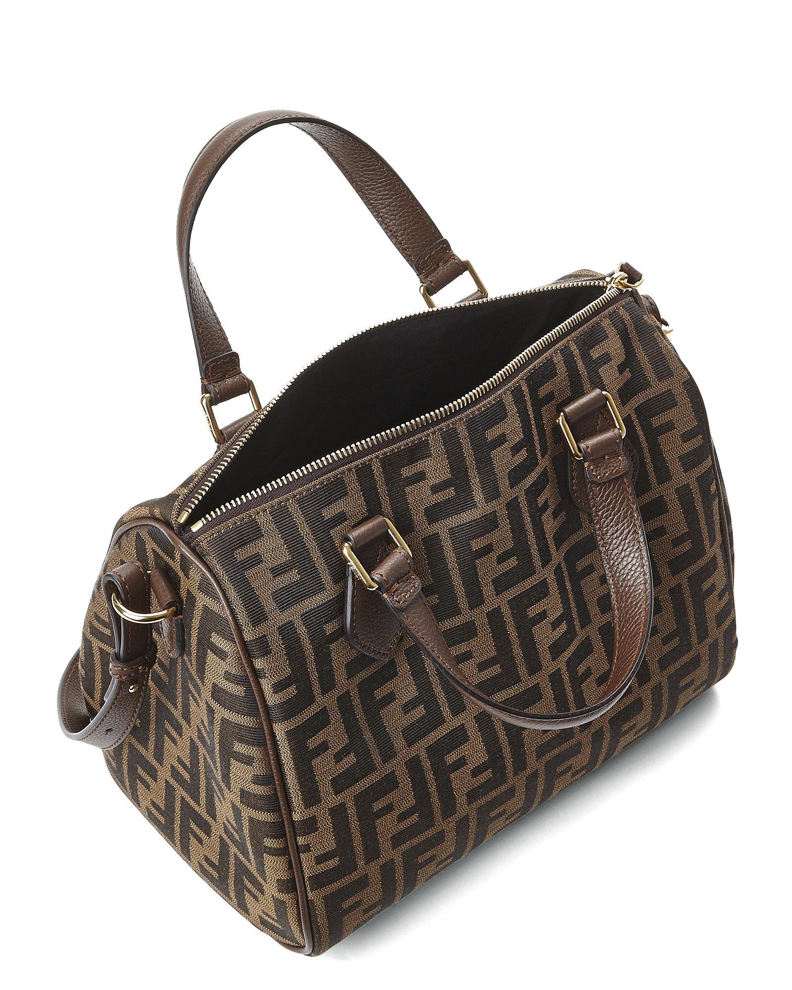 Boston Bag Patchwork Tutorial: Fendi Tobacco & Brown Zucca Boston Bag In Brown (Tobacco