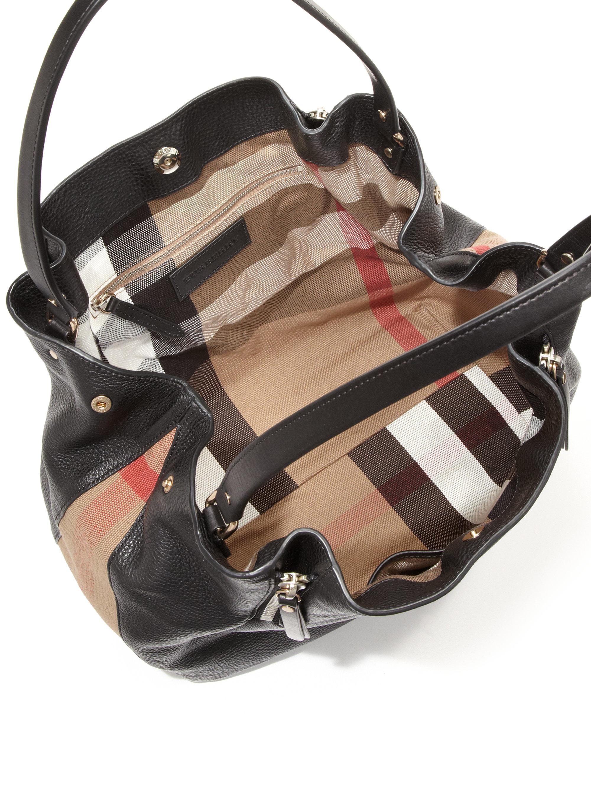 c9aa89ad7992 Lyst - Burberry Maidstone Medium Leather Tote in Black