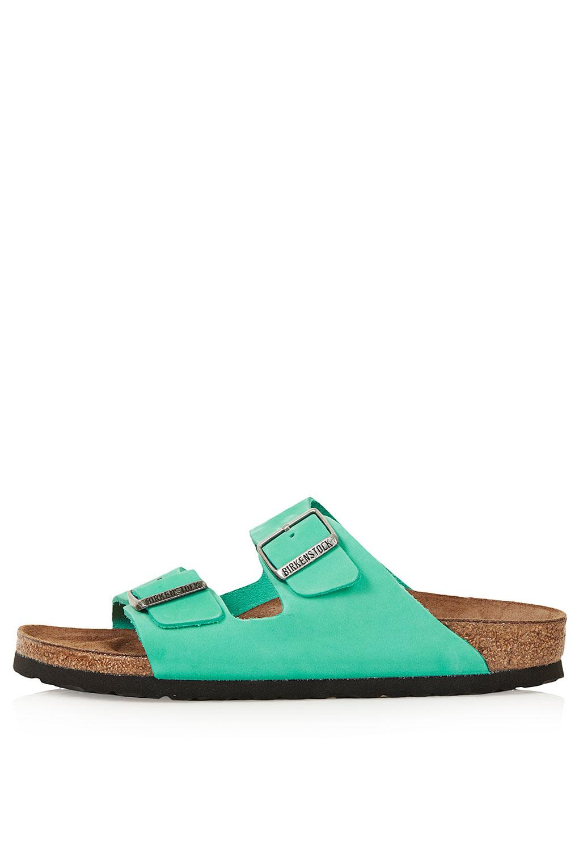 Topshop Birkenstock Arizona Sandals In Blue Lyst