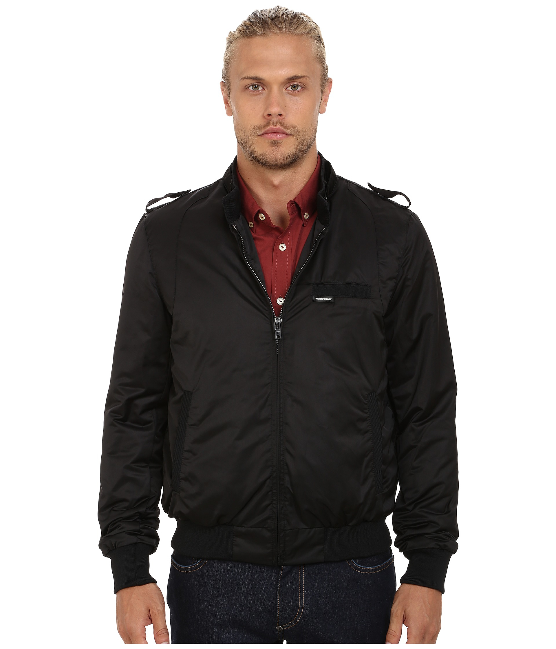 Members Only Modern Iconic Racer Jacket In Black For Men