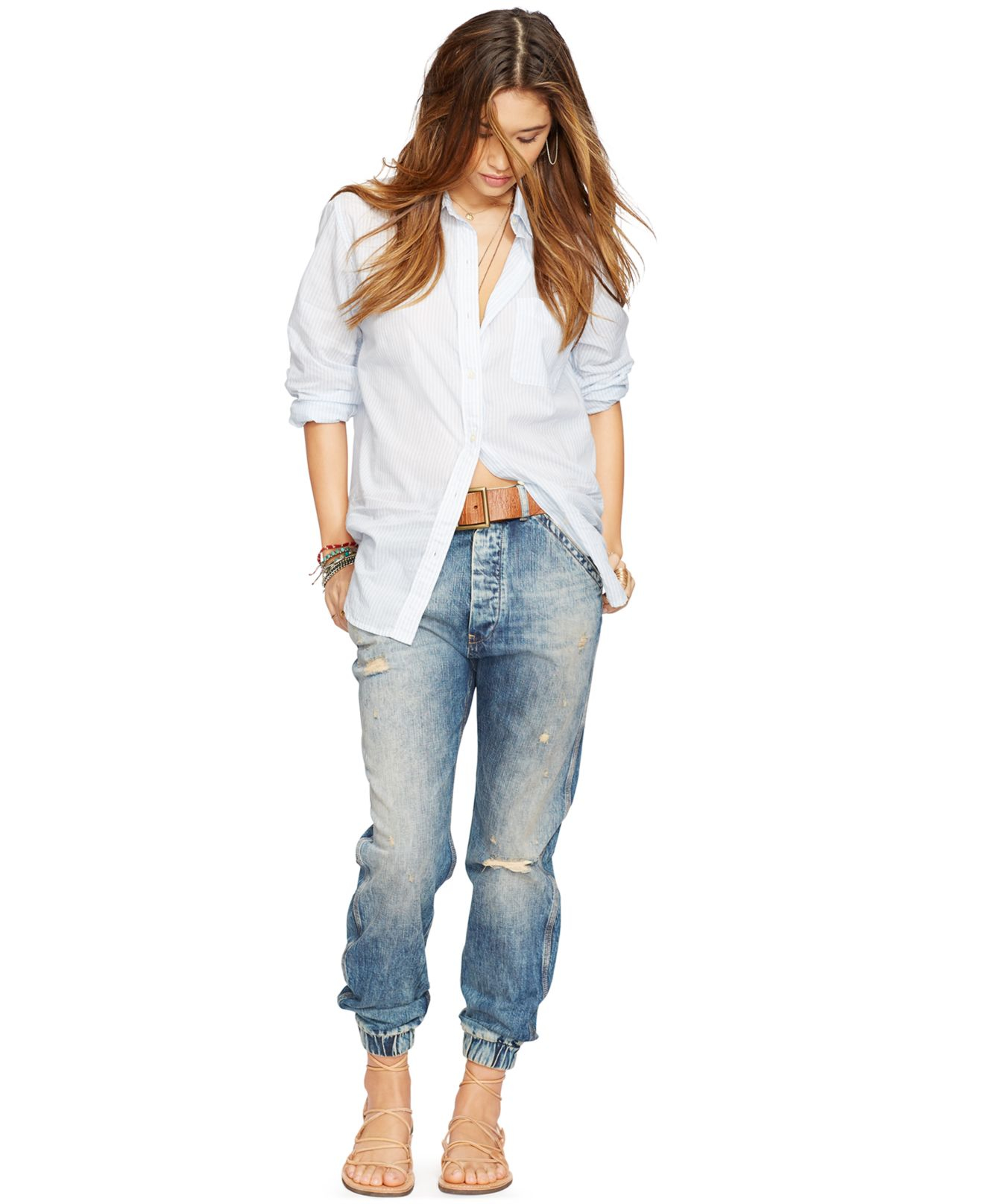 Denim  Supply Ralph Lauren Distressed Carpenter Jeans In -5827