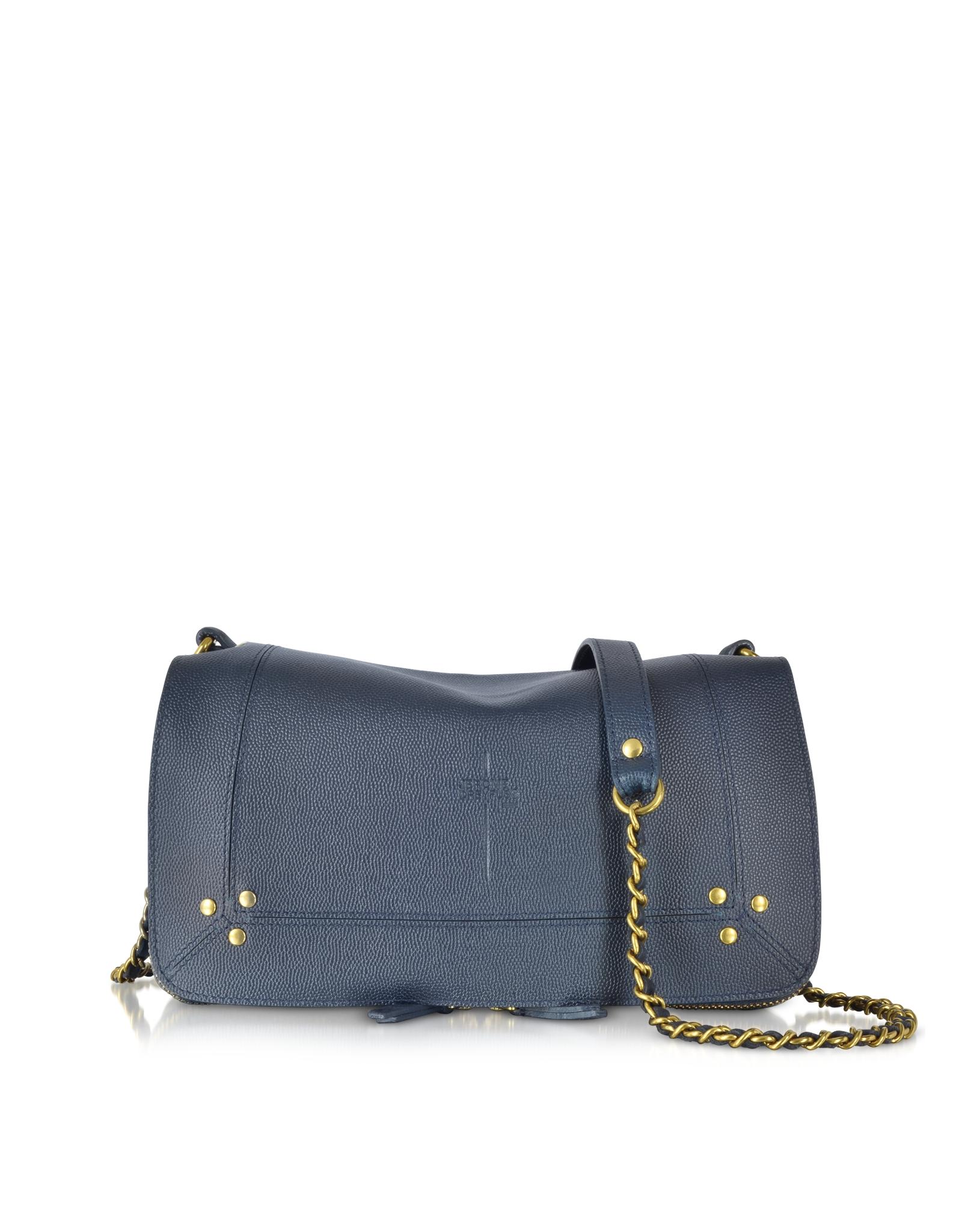 3e0547189 Jérôme Dreyfuss Bobi Navy Leather Shoulder Bag in Blue - Lyst