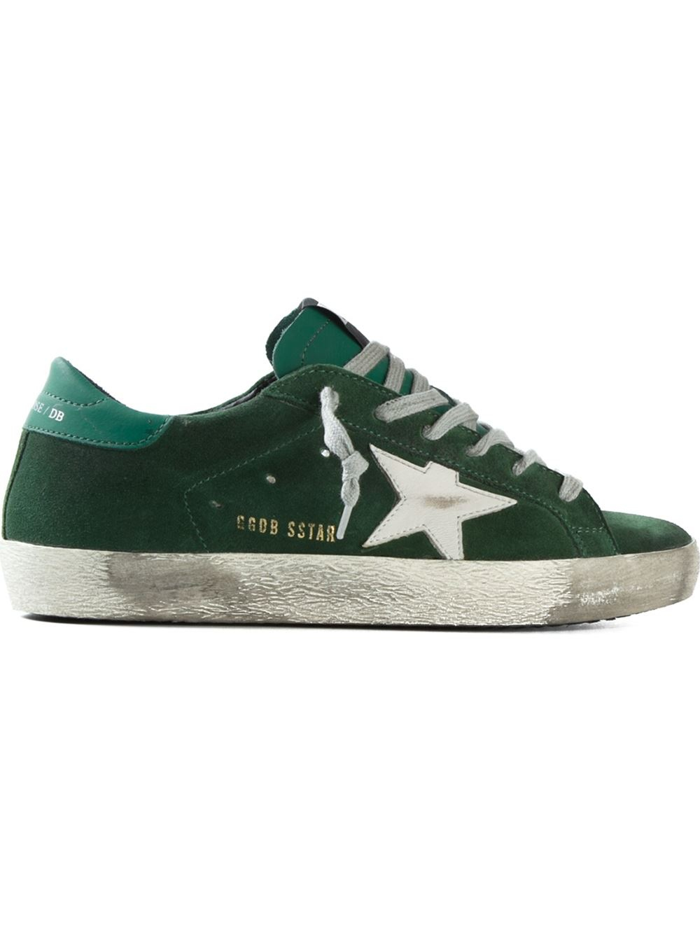 golden goose deluxe brand 39 super star 39 sneakers in green lyst. Black Bedroom Furniture Sets. Home Design Ideas
