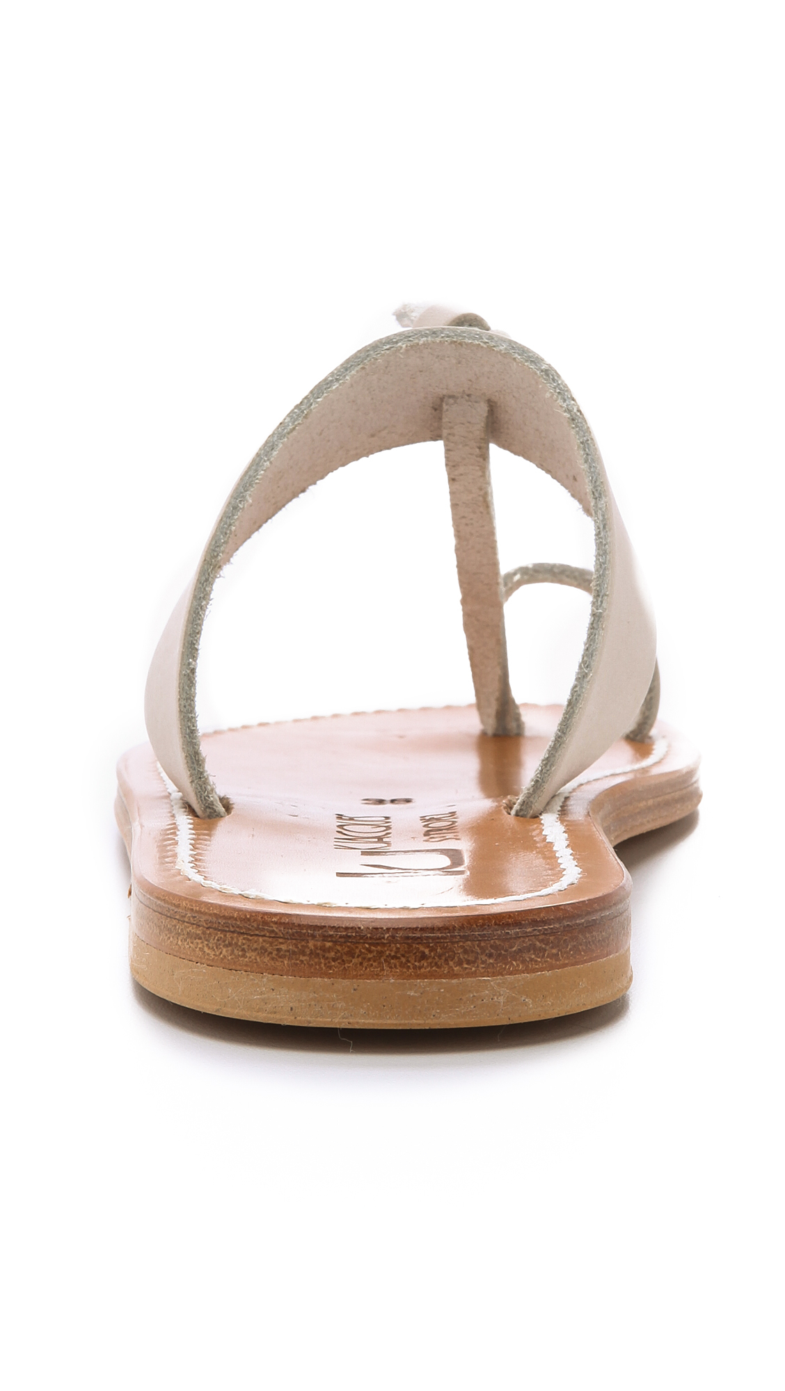 K Jacques Ganges Toe Ring Sandals In Beige Pul Linen Lyst