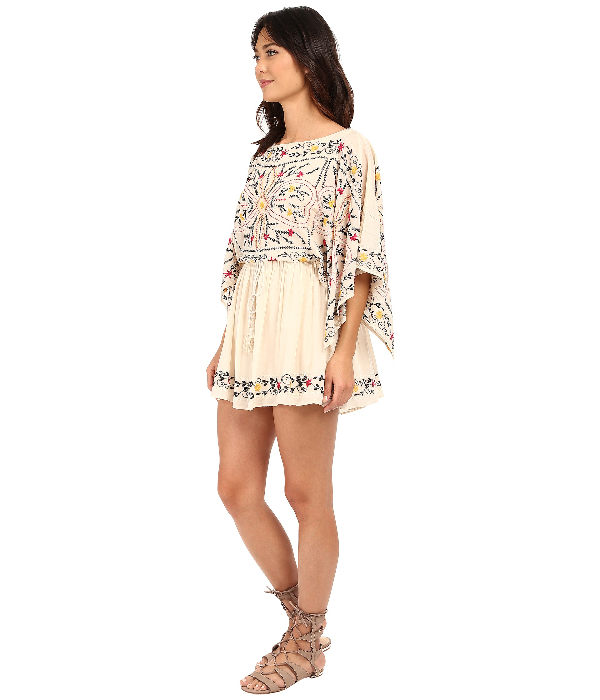 d9b43607cf6 Lyst - Free People Frida Embroidered Dress in White