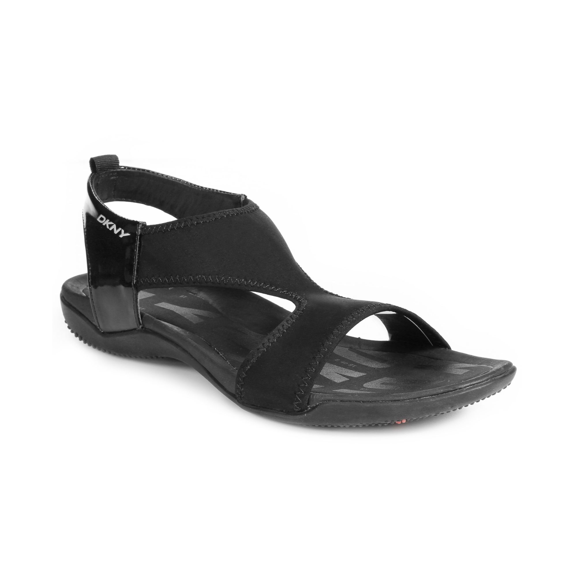 lyst dkny shoreline sandals in black