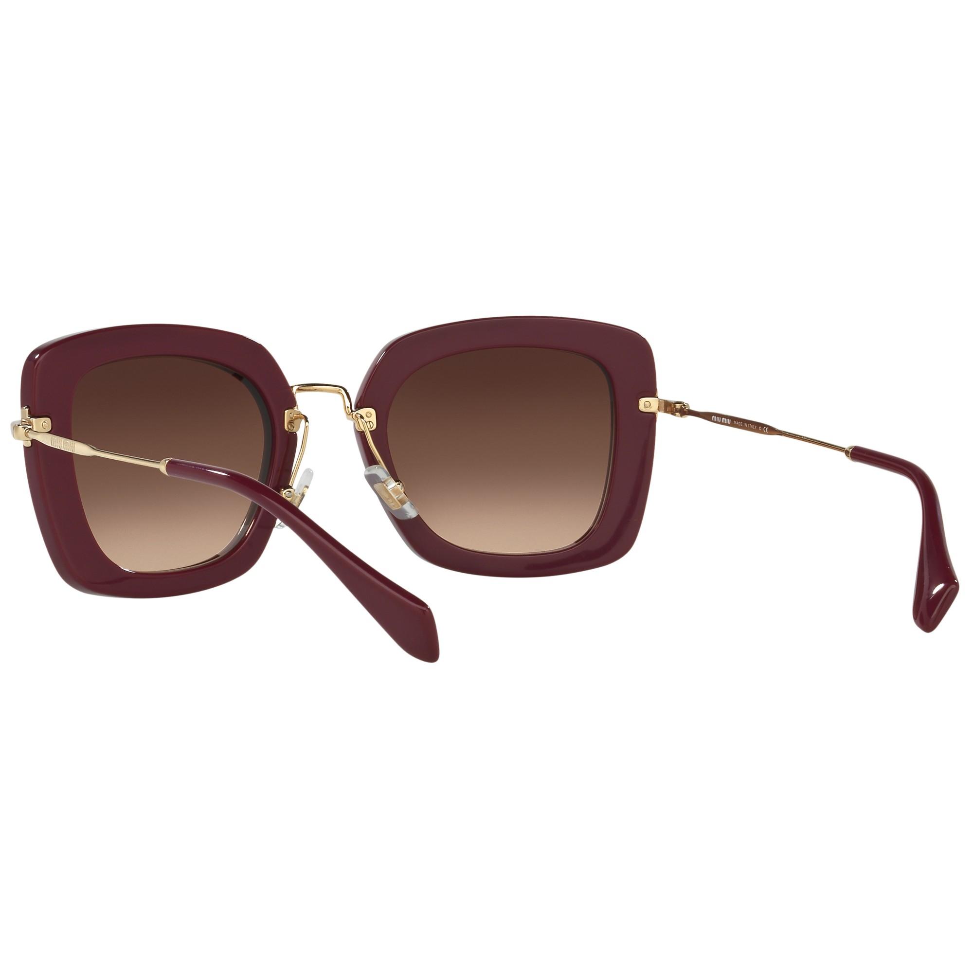 Miu Miu Mu07os Square Gradient Sunglasses in Plum/Brown (Purple)