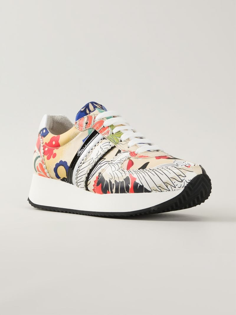 Carven Floral Print Sneakers - Lyst