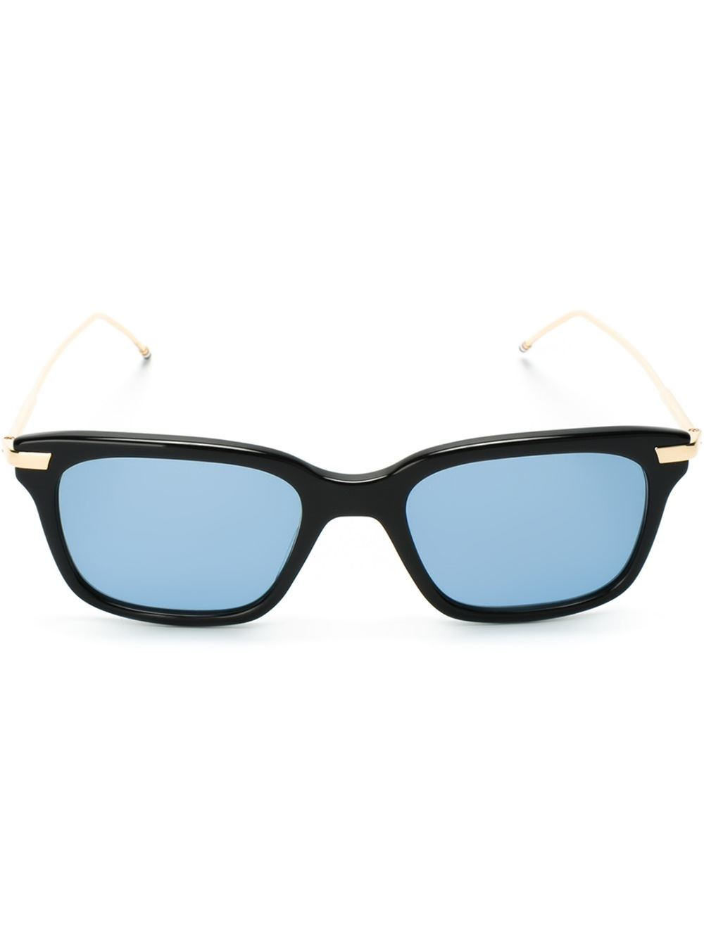 Thom browne Square Frame Sunglasses in Gold for Men ...