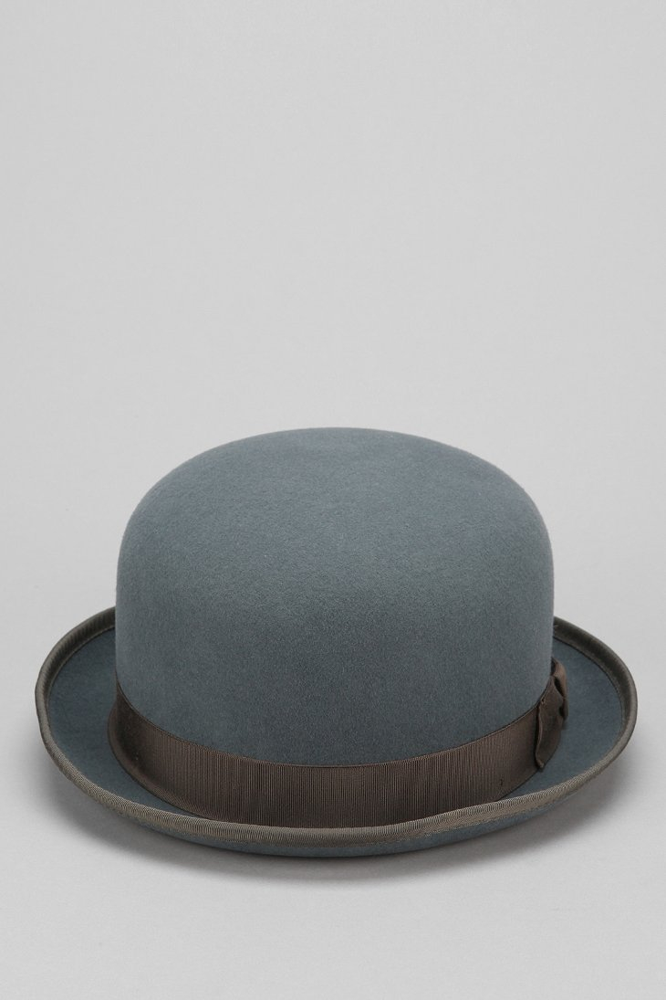 Vintage Snapback Hats >> Bailey of hollywood Bailey Hollis Bowler Hat in Blue for Men   Lyst