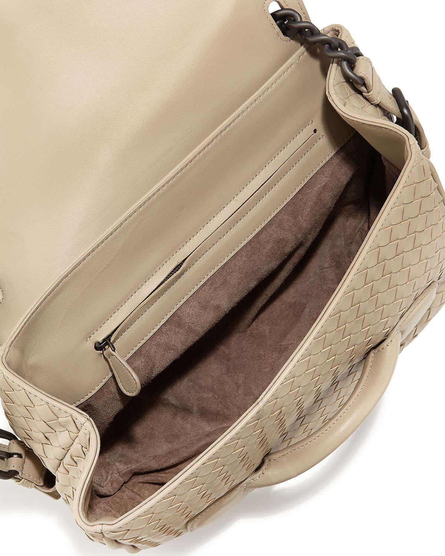 7d5bdda8b5d1 Bottega veneta Intrecciato Medium Leather Shoulder Bag in Beige .