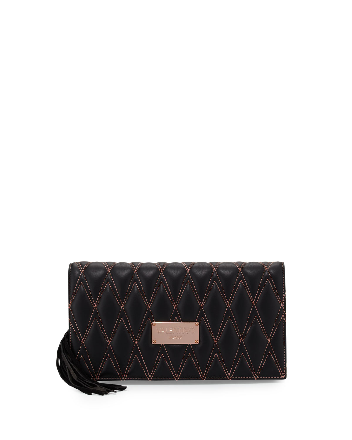 Valentino by mario valentino Lena D Quilted Leather Clutch Bag in ... : quilted leather clutch - Adamdwight.com