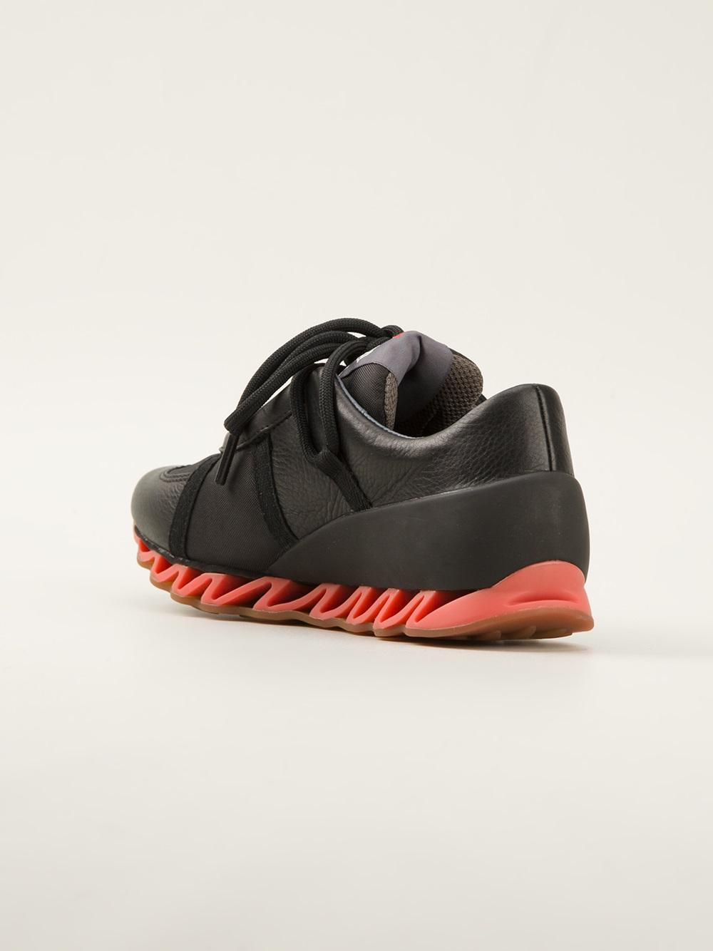 Bernhard Willhelm Himalayan Leather Sneakers in Black