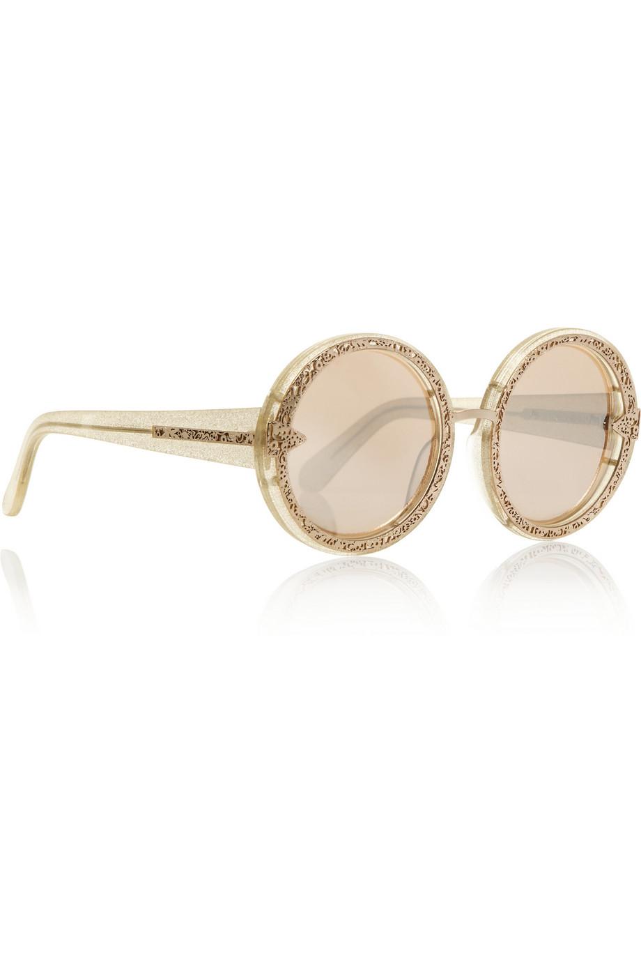 396192300ce1 Lyst - Karen Walker Gold Orbit Filigree Sunglasses in Metallic
