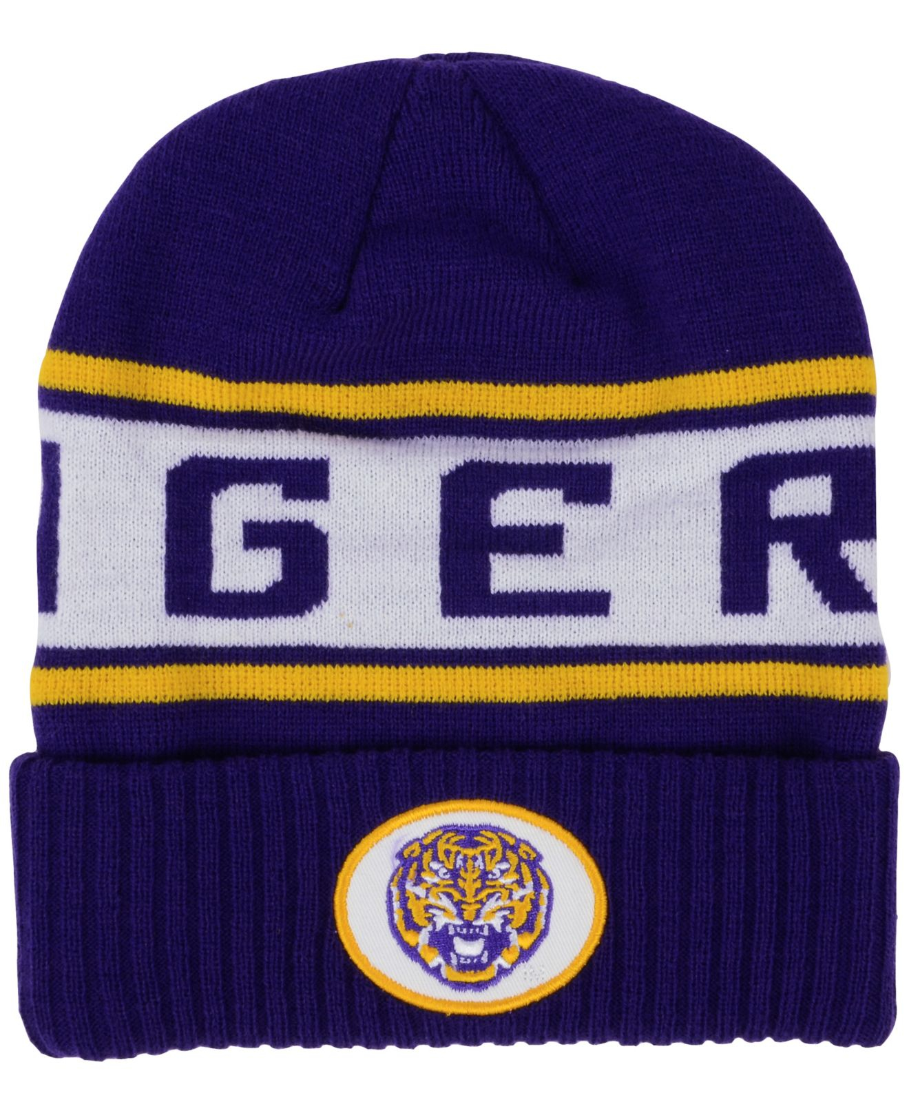 9d197856d87 ... hot lyst nike lsu tigers sideline knit hat in blue for men 3156a f4b06