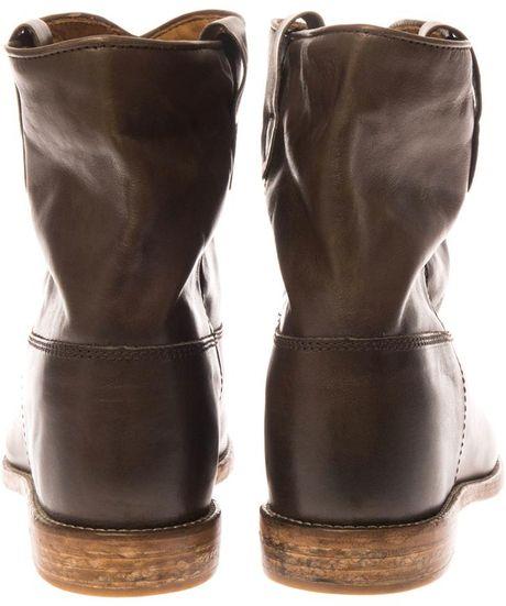 isabel marant cluster leather ankle boots in brown lyst. Black Bedroom Furniture Sets. Home Design Ideas