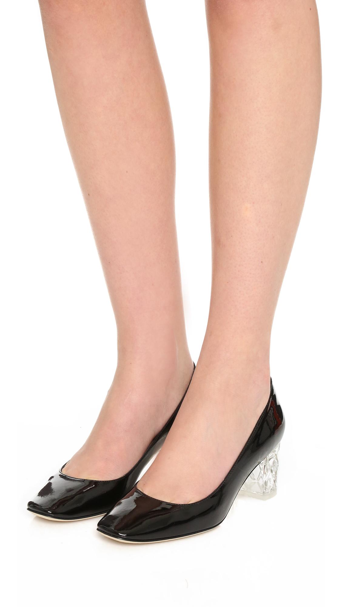8f0da322233b Lyst - Kate Spade Dawson Too Block Heel Pumps in Black