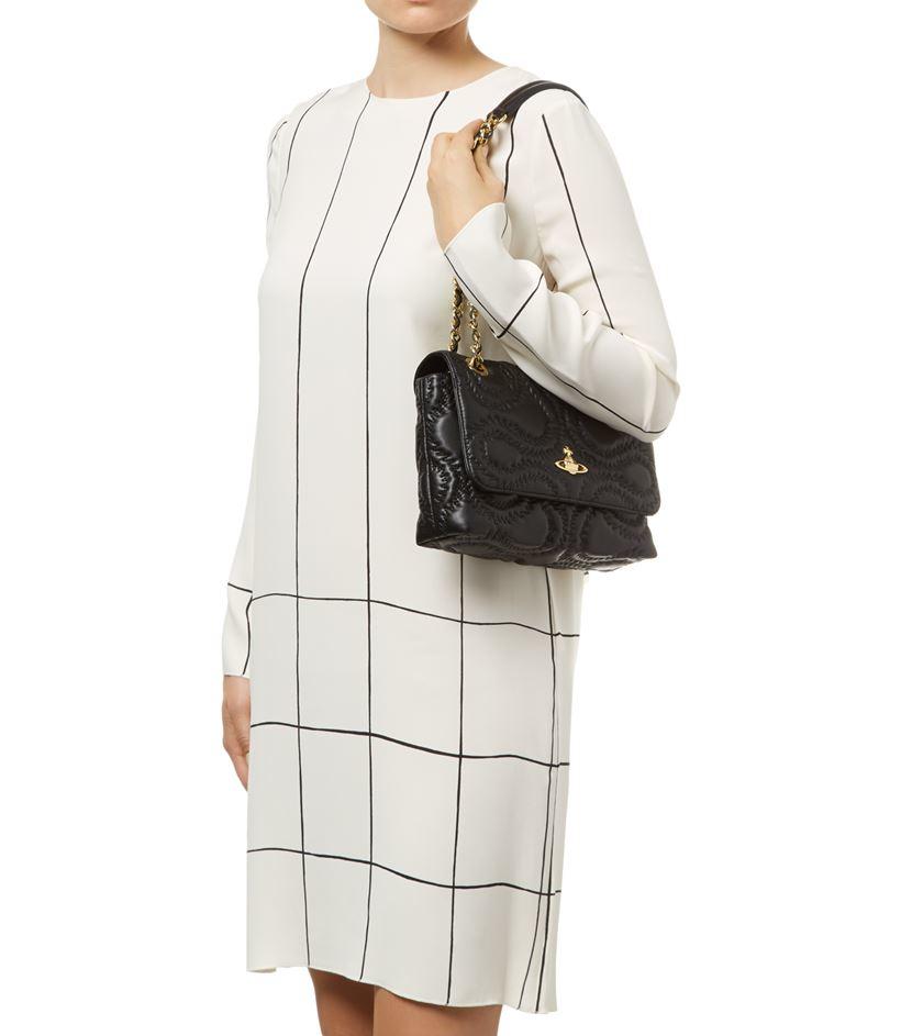 fbd273897d0d Vivienne Westwood Quilted Squiggle Shoulder Bag in Black - Lyst