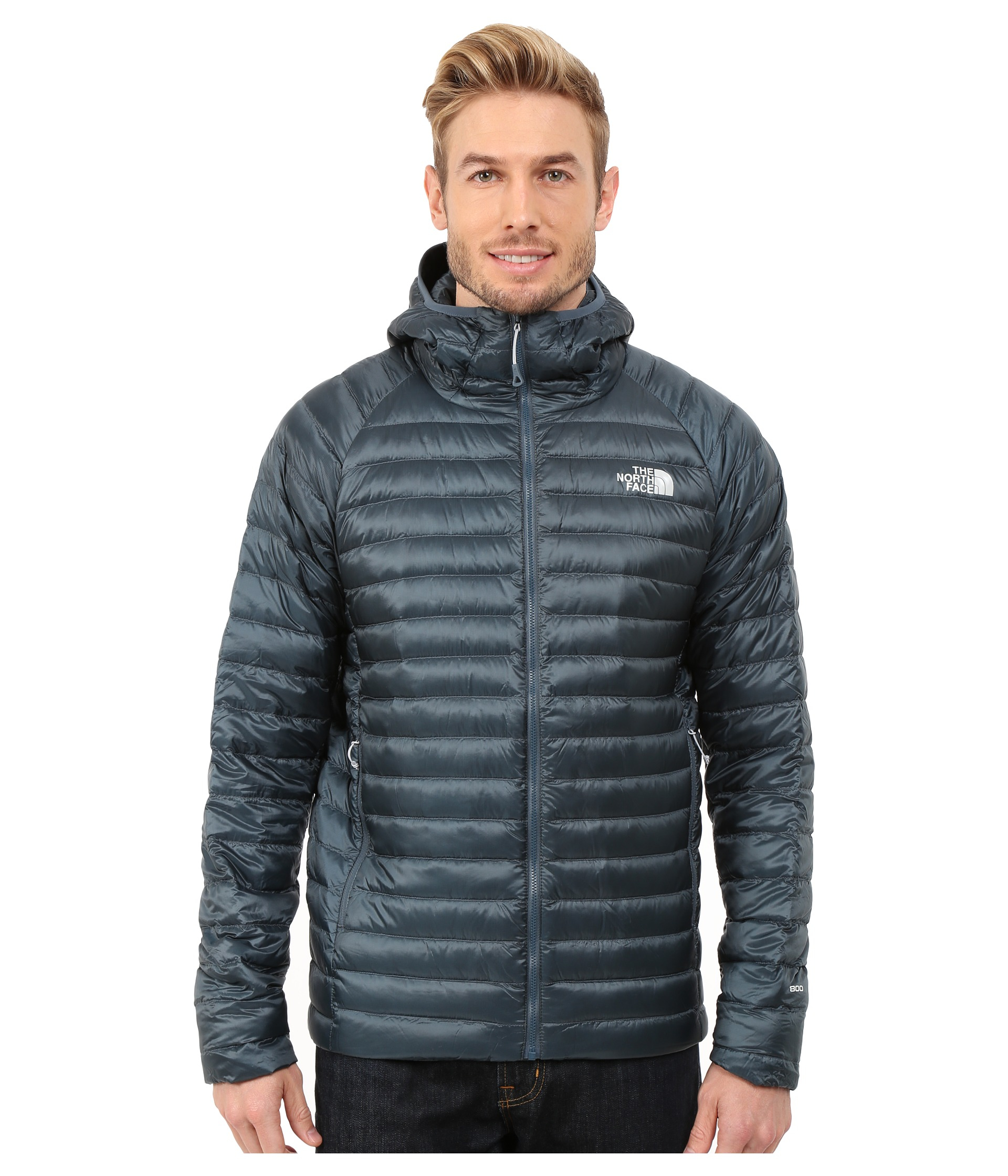 037d280872 ... order lyst the north face quince hooded jacket in blue for men 3bdf5  d6e49