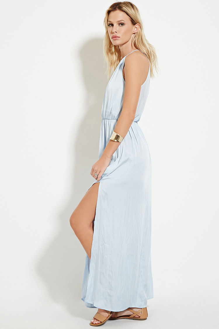 68e2bc1563 Lyst Forever 21 Satin High Maxi Dress You Ve Been Added To