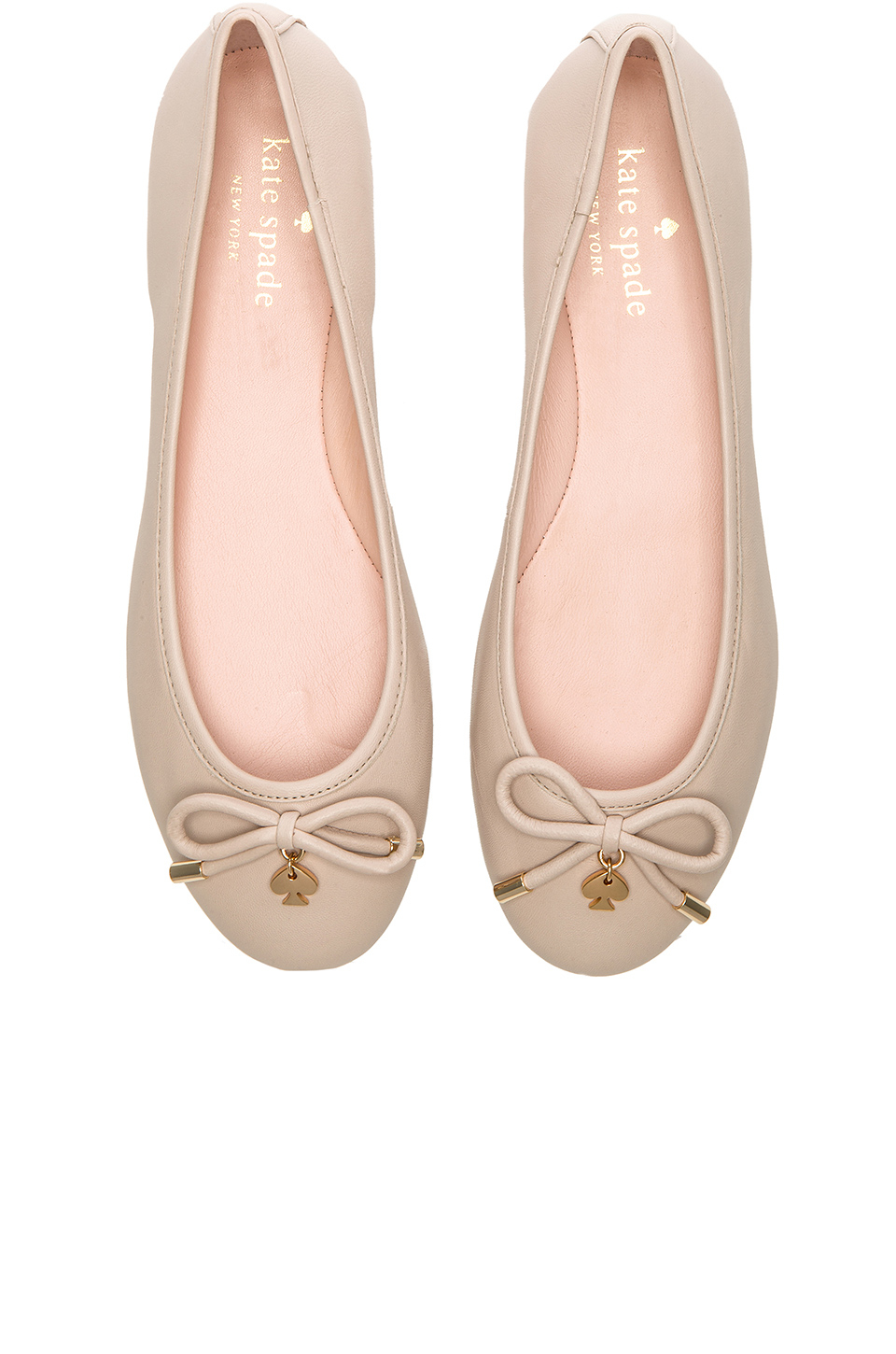 Lyst kate spade new york willa leather ballet flats in for Kate spade new york flats