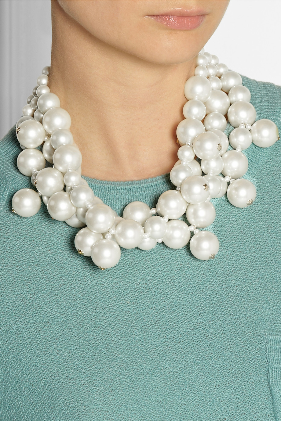 6096260b7296c Kenneth Jay Lane Gold-Plated Faux Pearl Necklace in White - Lyst