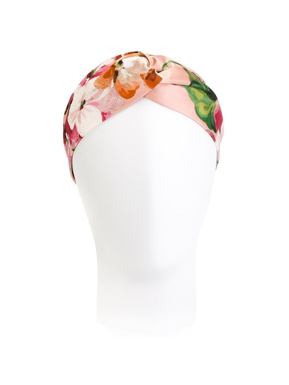162019aeb3a32 Gucci Silk Headband With Blooms Print in Pink - Lyst