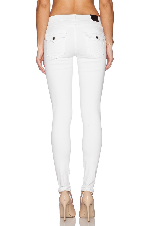 True Religion Casey Skinny Mid Rise Stretch Denim Jeans In