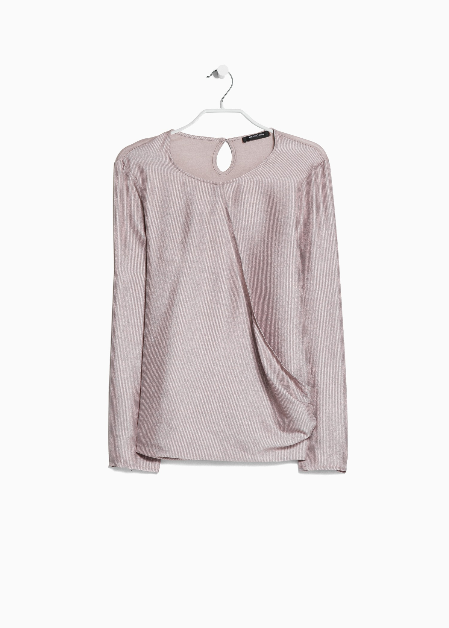 Lyst Mango Satin Wrap Blouse In Pink