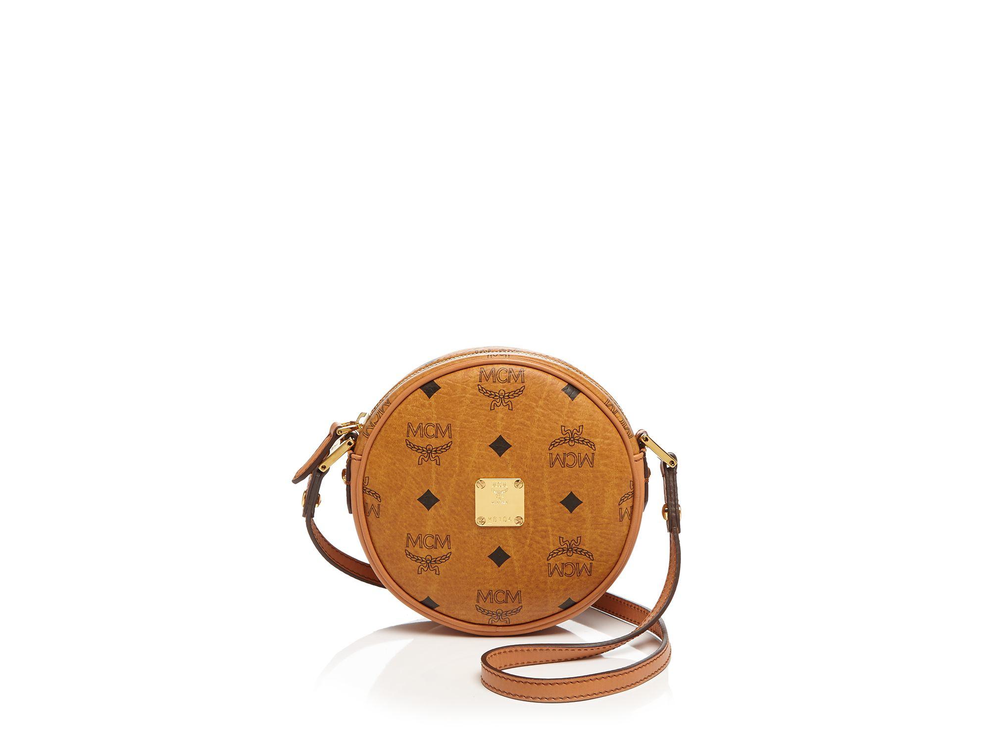 MCM Crossbody - Heritage Line Tambourine Small in Cognac (Brown)