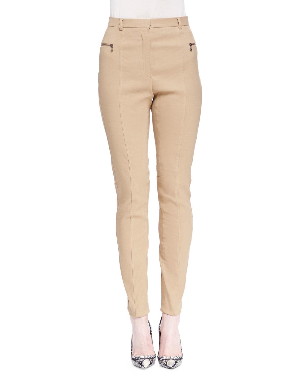 Beige Skinny Jeans Womens