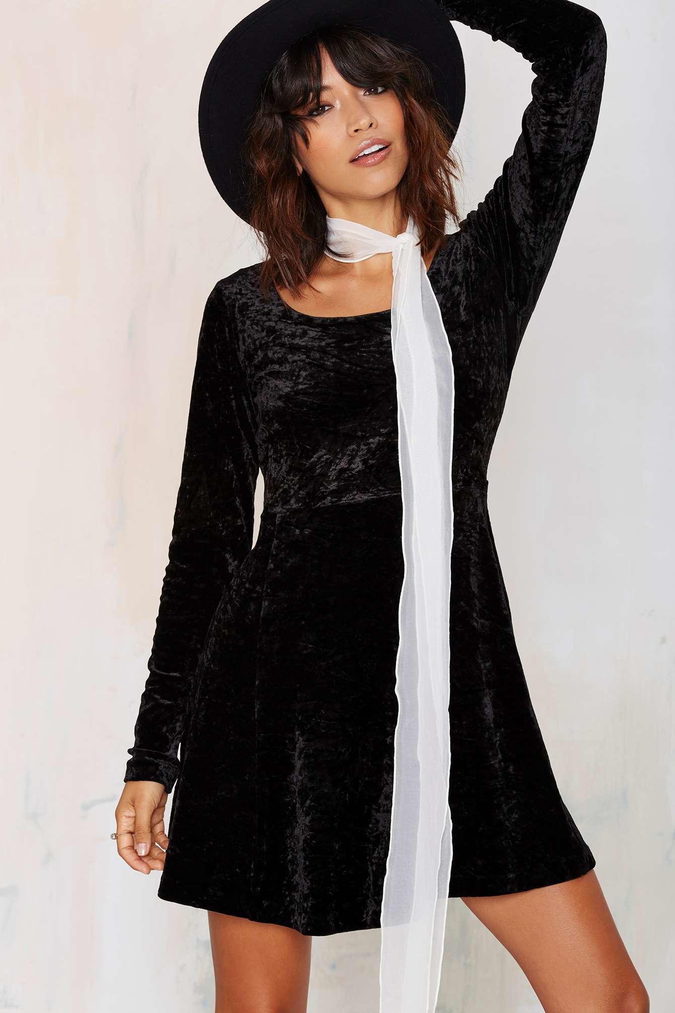 Nasty Gal Betsey Johnson Save Tonight Velvet Dress In