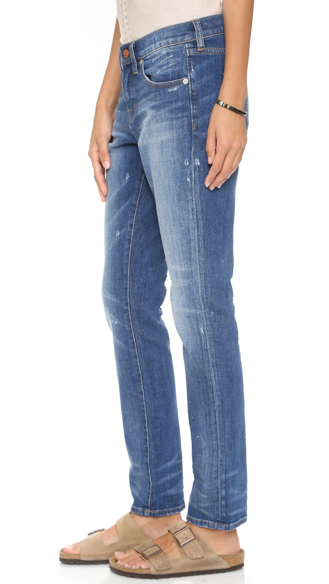 Madewell Slim Hatfield Boyfriend Jeans - Hatfield Wash in Blue