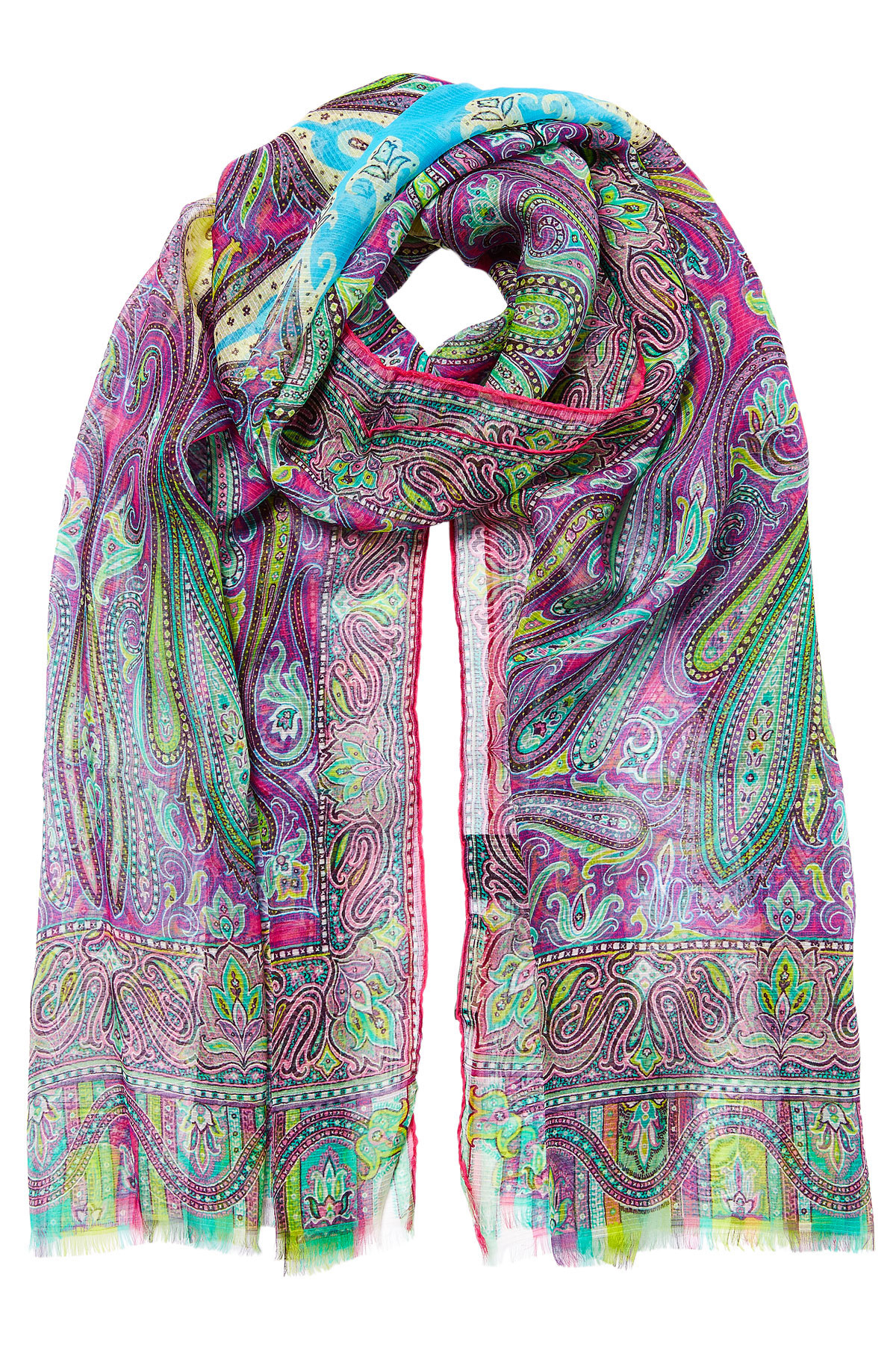 etro dhely paisley striated silk scarf lyst