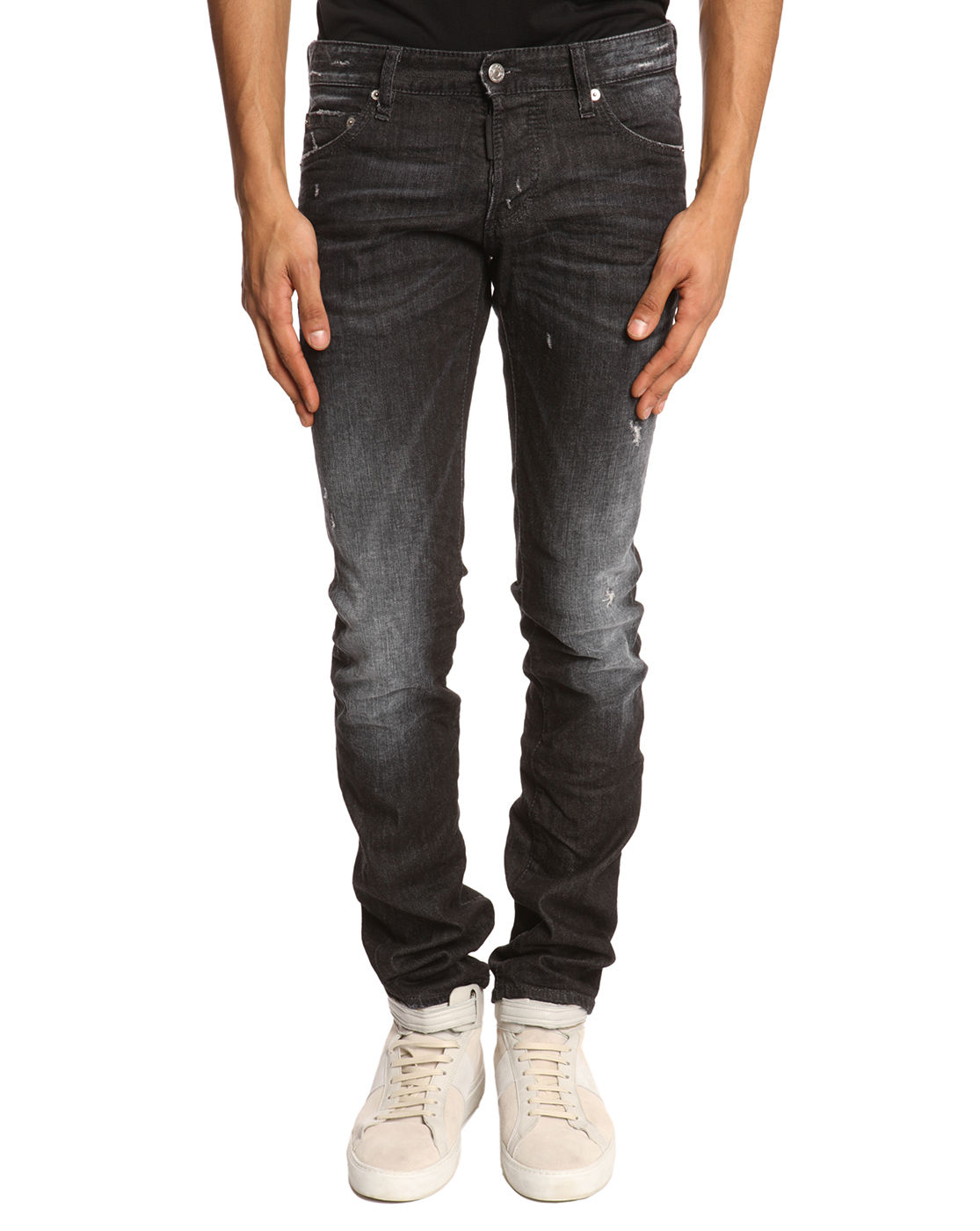 Black Faded Jeans Mens Ye Jean