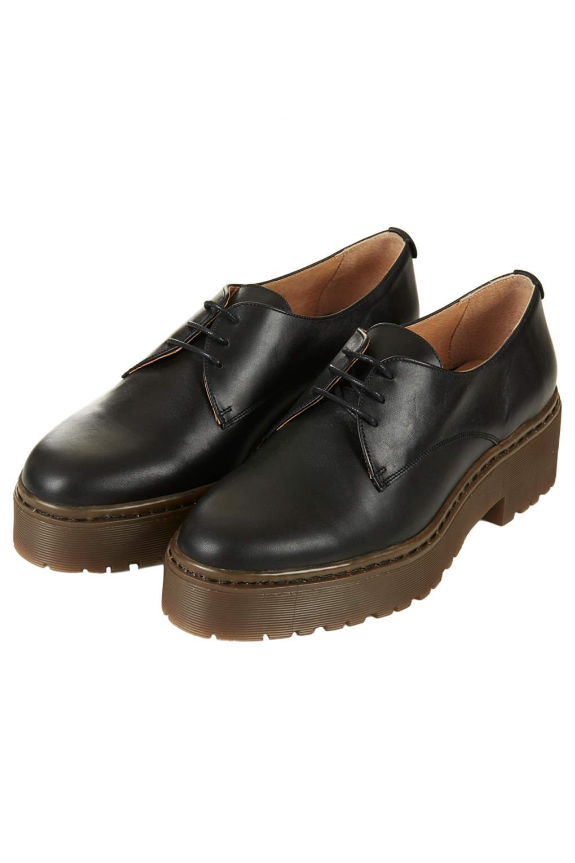 Lyst Topshop Kooler Heavy Sole Shoes In Black