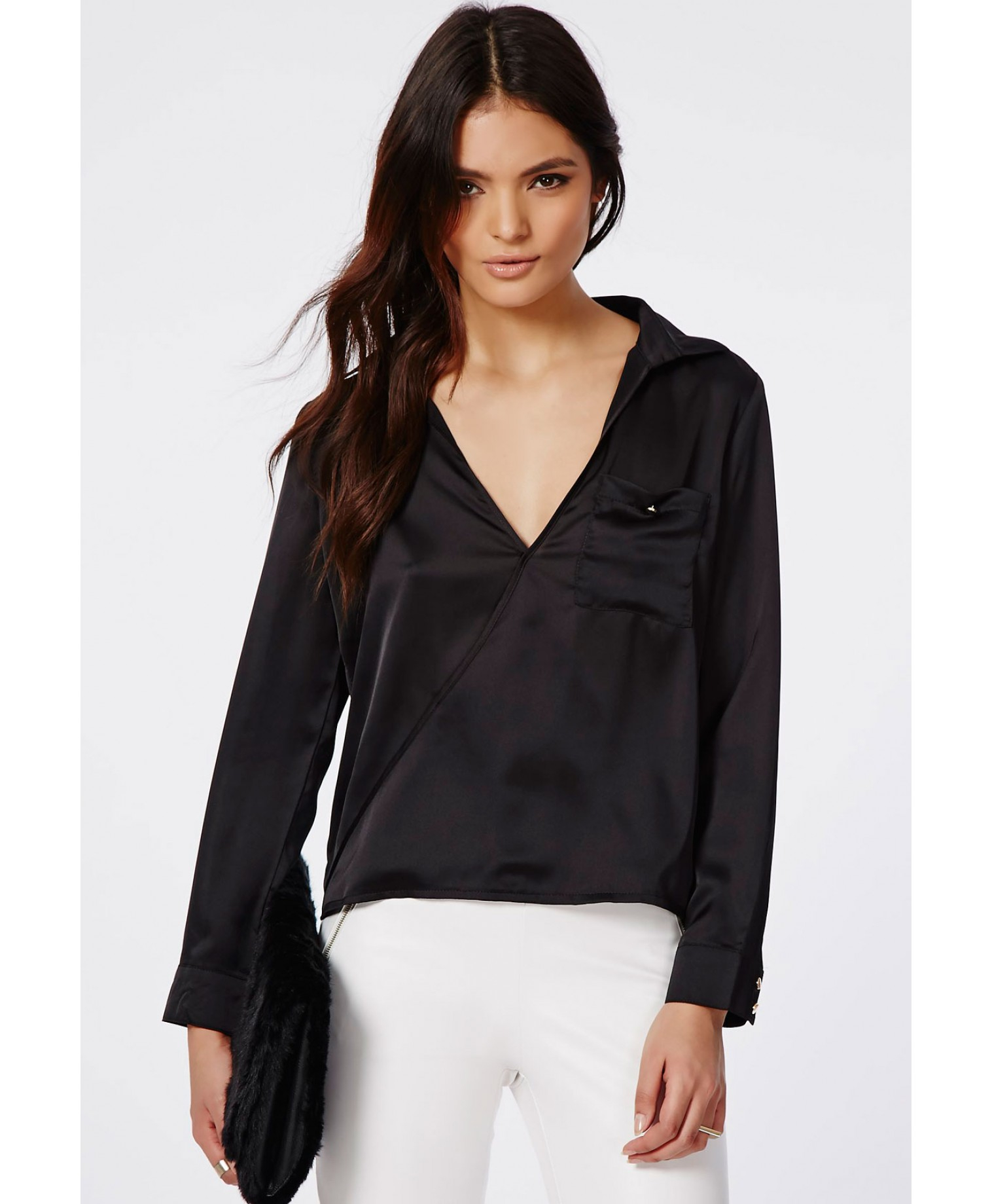 Wrap Over Blouse Missguided 25