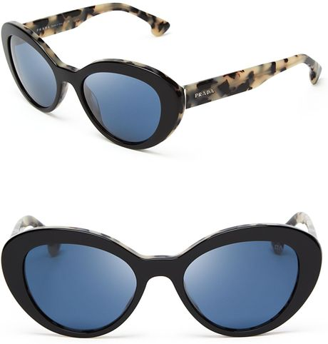 66c0dfa4ce0e1 Prada Cat Eye Sunglasses White