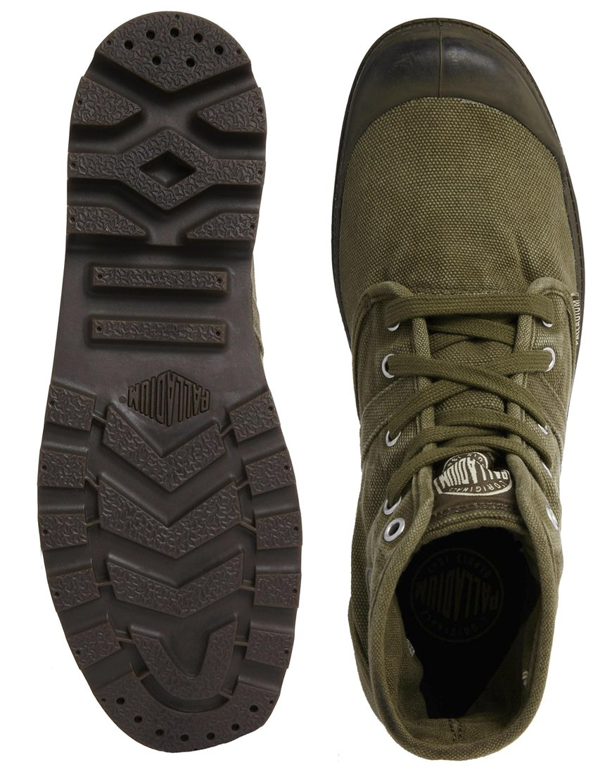 Palladium Pallabrouse Hi Boots In Green For Men Lyst