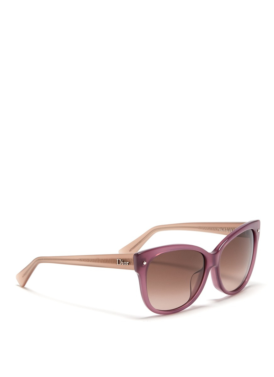 Dior Squared Cat Eye Plastic Frame Sunglasses in Purple Lyst