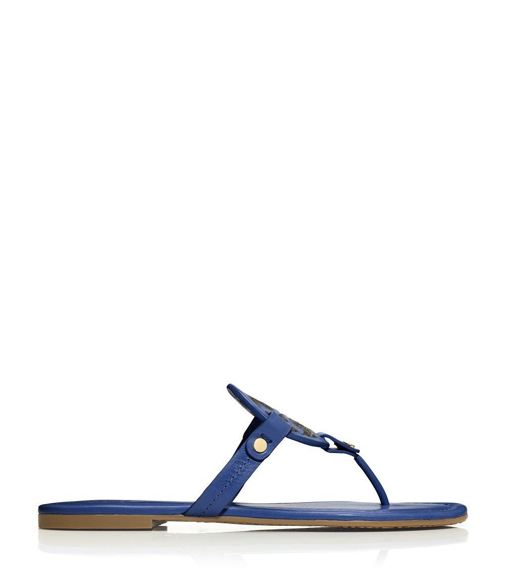 017df465b9d Lyst - Tory Burch Miller Sandal in Blue