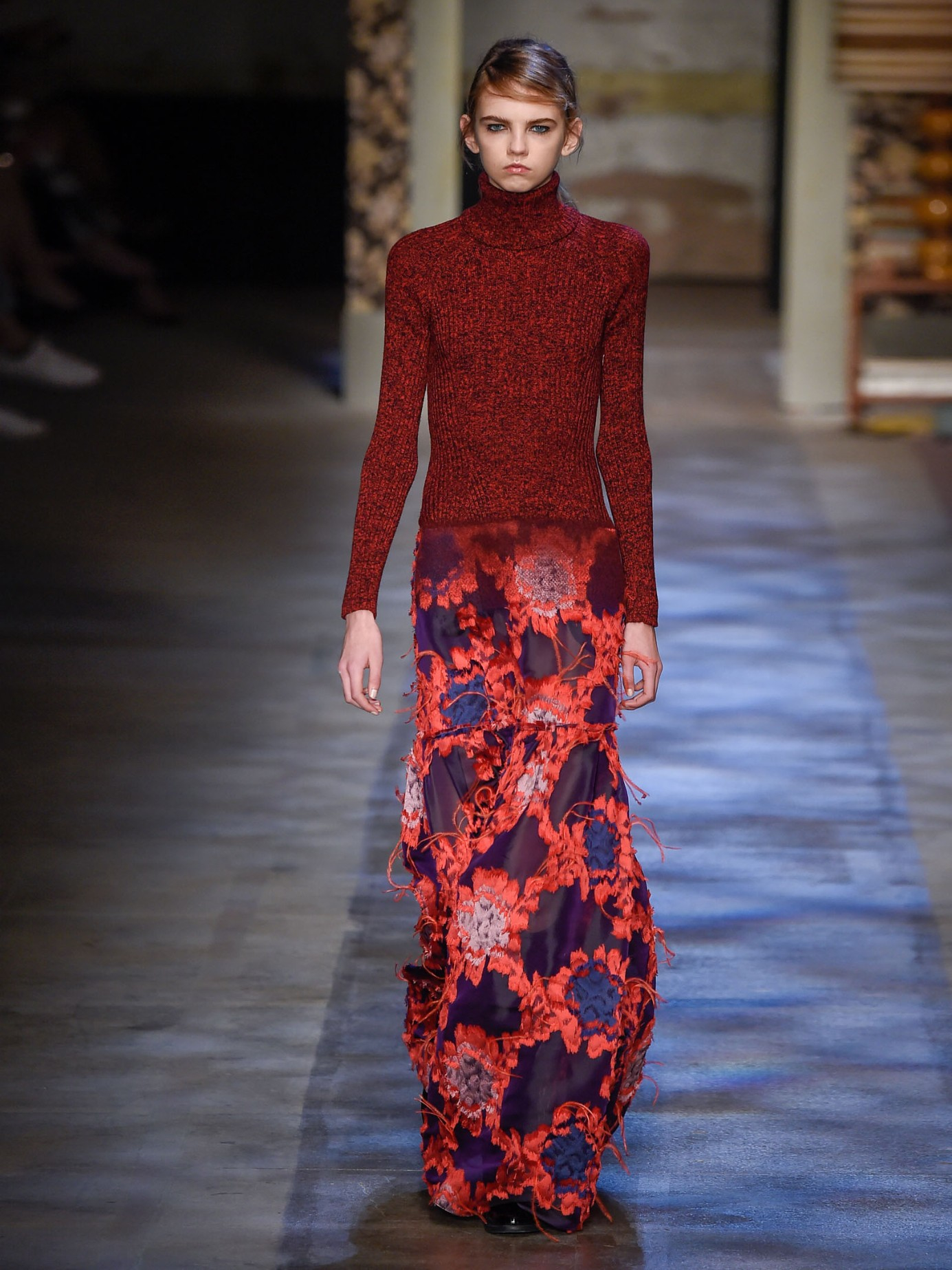 Lyst Erdem Madda Knit And Fil Coup 233 Gown In Red