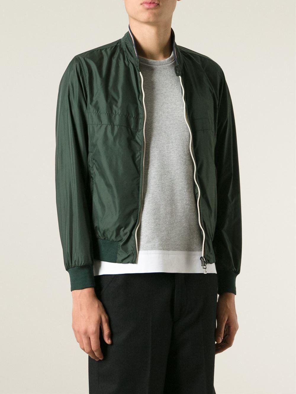 moncler green bomber jacket