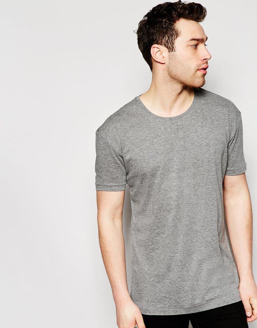 esprit oversized t shirt in gray for men lyst. Black Bedroom Furniture Sets. Home Design Ideas
