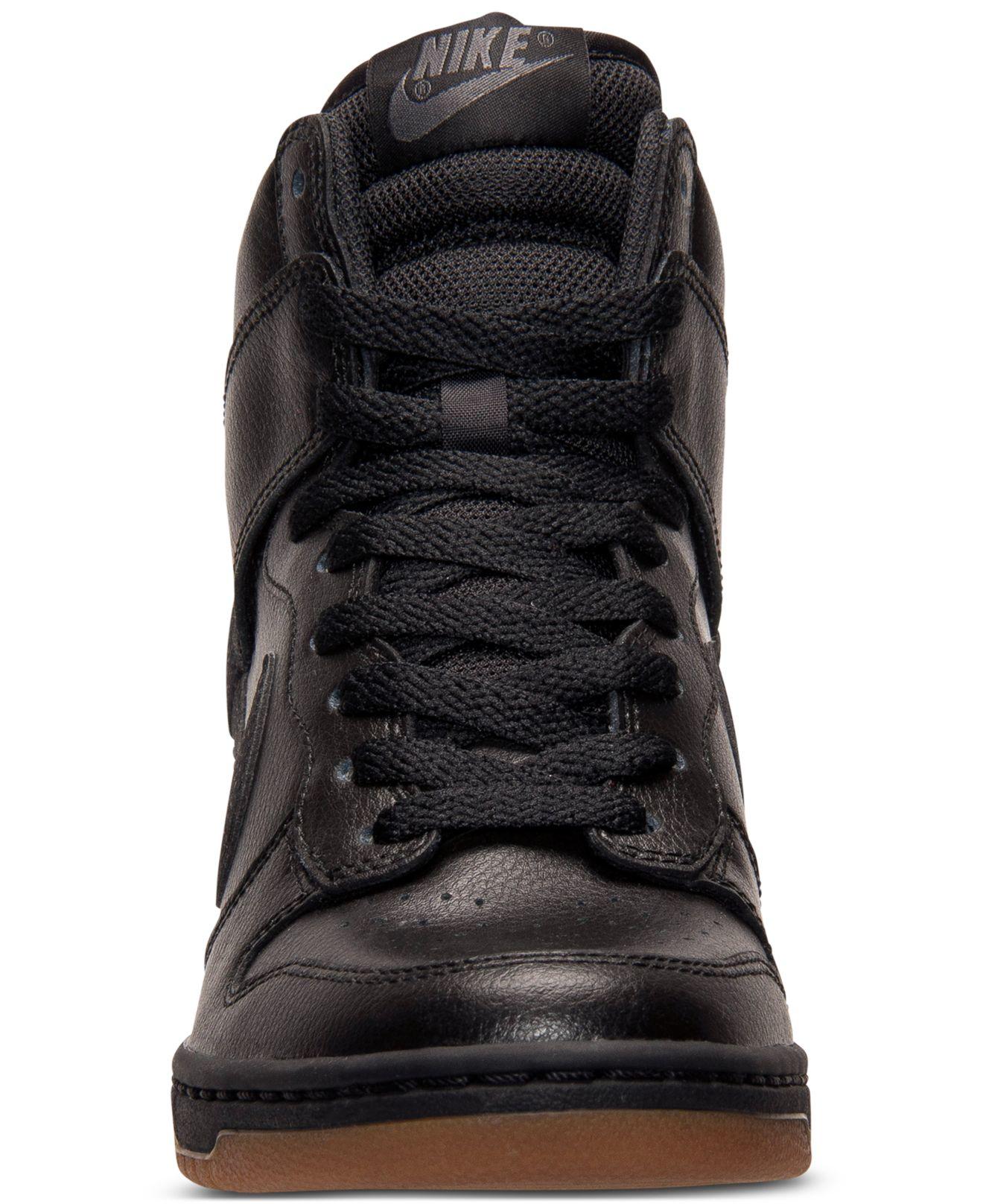Lyst - Nike Dunk Sky Hi Essential Leather Sneakers In Black-6889