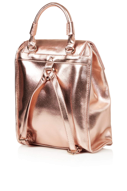 Topshop Clean Smart Backpack in Metallic | Lyst